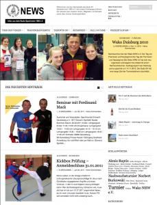 Der neue Webauftritt des Budo-Sportvereins
